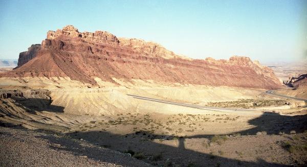 Highway Goes Around Mesa