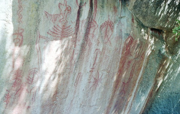 Pictographs in Red