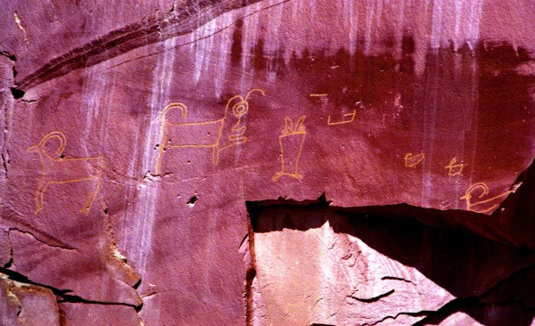 Pictographs On a Rockfall